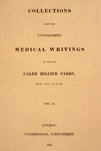 Caleb Parry medical writings
